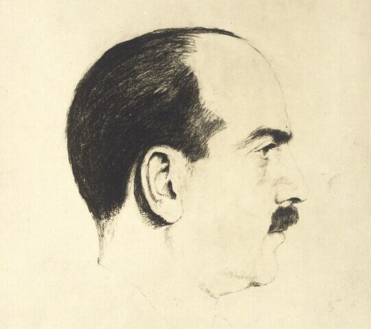 Der Demokratietheoretiker Hans Kelsen, gezeichnet von Marianne Hausmann-Pisko.
